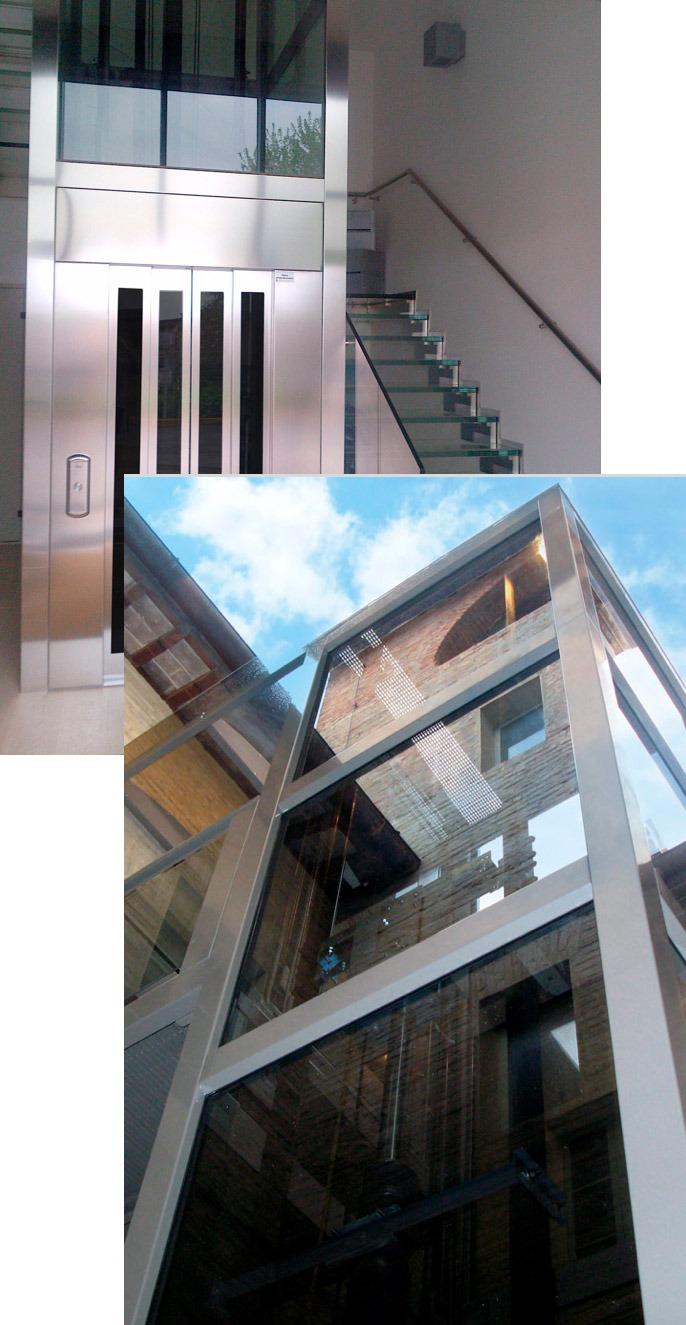 cristalli ascensore ridotte dimensioni linea f