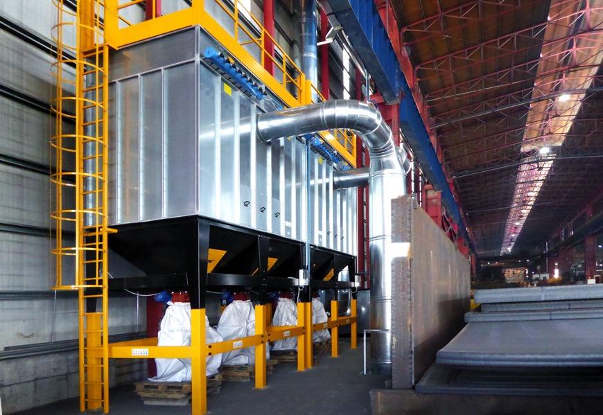 produzione filtri aspirazione industriale