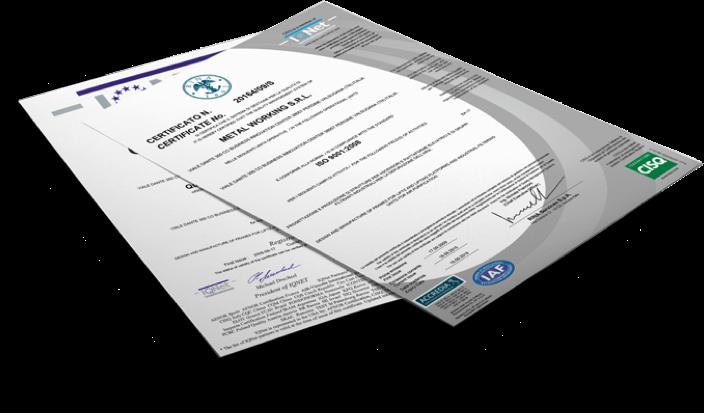 certificazioni qualità metal working