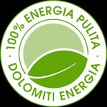 Logo 100% Energia Pulita - Dolomiti Energia