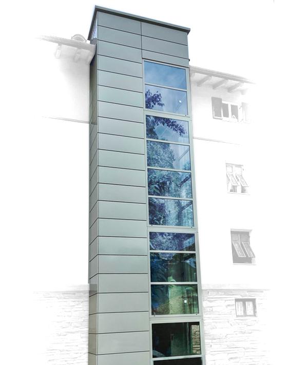 Struttura metallica per elevatore esterno